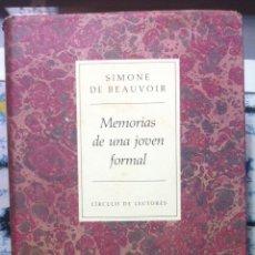 Libros de segunda mano: SIMONE DE BEAUVOIR. MEMORIAS DE UNA JOVEN FORMAL. 1993. Lote 131652978