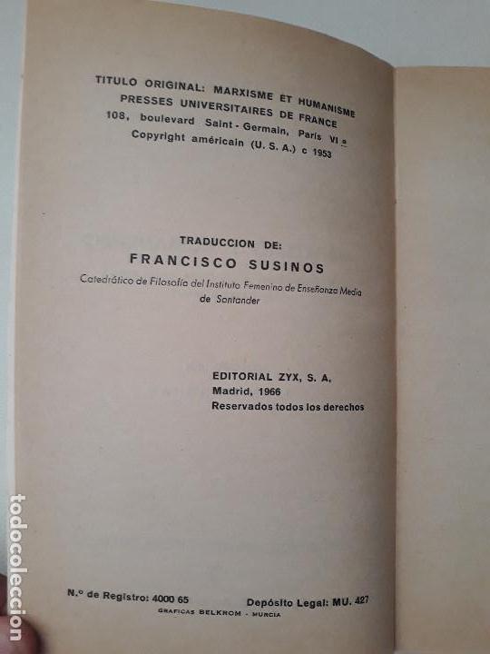 Libros de segunda mano: Marxismo y humanismo. Pierre Bigo. Editorial ZYX Biblioteca Promoción del Pueblo. Madrid. 1966. - Foto 4 - 131661442