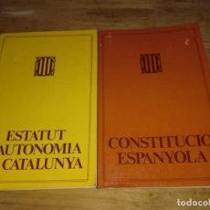 Libros de segunda mano: ESTATUT D'AUTONOMIA DE CATALUNYA I CONSTRUCCIÓ ESPANYOLA DE 1983. Lote 132520070