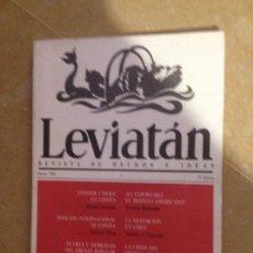 Libros de segunda mano: LEVIATÁN. REVISTA DE HECHOS E IDEAS (NÚM 33). Lote 133227154