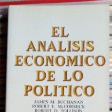 Libros de segunda mano: EL ANÁLISIS ECONÓMICO DE LO POLÍTICO, VARIOS AUTORES. Lote 133960094