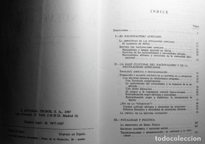 Libros de segunda mano: EL NUEVO REINO Sentido de la política en África Negra. Fernando Morán (1967) - Foto 3 - 133976810