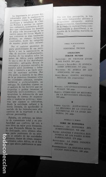 Libros de segunda mano: EL NUEVO REINO Sentido de la política en África Negra. Fernando Morán (1967) - Foto 5 - 133976810
