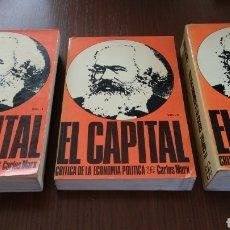 Libros de segunda mano: EL CAPITAL. CRÍTICA DE LA ECONOMÍA POLÍTICA. 3 TOMOS. CARLOS MARX.. Lote 134890733
