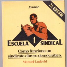 Libros de segunda mano: ESCUELA SINDICAL 1 - COMO FUNCIONA SINDICATO OBRERO DEMOCRATICO - LUDEVID - AVANCE 1977. Lote 135764786