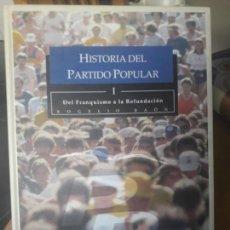 Libros de segunda mano: HISTORIA DEL PP, DEL FRANQUISMO A LA REFUNDACION, ROGELIO BAON, ED, IBERSAF, 2001, RARO. Lote 136054362