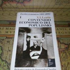 Libros de segunda mano: CONTENIDO ECONÓMICO DEL POPULISMO. V. I. LENIN. 1ª EDICIÓN 1974.. Lote 137201098