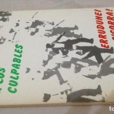 Libros de segunda mano: CASTIGO A LOS CULPABLES-ERRUDUNEI ZIGORRA-SUCESOS PZA TOROS PAMPLONA.S SEBASTIAN-RENTERIA JULIO 197. Lote 137201806