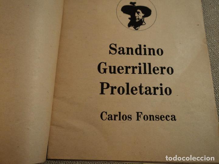Libros de segunda mano: SANDINO GUERRILLERO PROLETARIO (CARLOS FONSECA) ed. frente sandinista l. n. - Foto 3 - 140304854