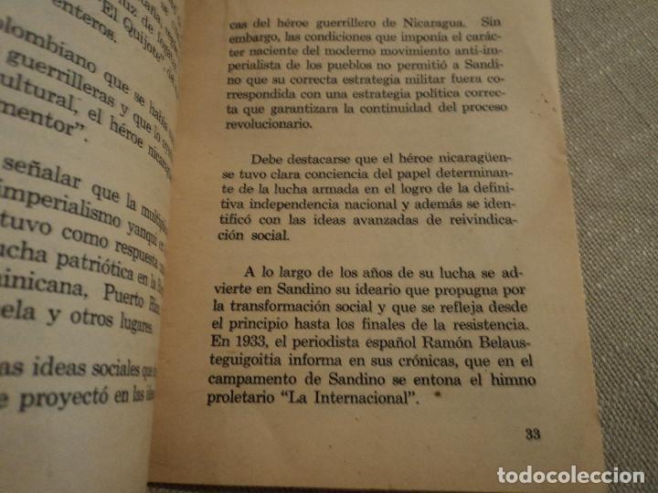 Libros de segunda mano: SANDINO GUERRILLERO PROLETARIO (CARLOS FONSECA) ed. frente sandinista l. n. - Foto 5 - 140304854