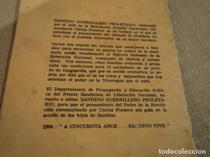 Libros de segunda mano: SANDINO GUERRILLERO PROLETARIO (CARLOS FONSECA) ed. frente sandinista l. n. - Foto 6 - 140304854