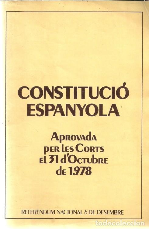CONSTITUCIÓN ESPAÑOLA / CONSTITUCIÓ ESPANYOLA - 1978 (Libros de Segunda Mano - Pensamiento - Política)