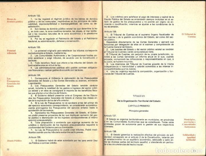 Libros de segunda mano: CONSTITUCIÓN ESPAÑOLA / CONSTITUCIÓ ESPANYOLA - 1978 - Foto 2 - 140434758