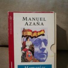 Libros de segunda mano: MANUEL AZAÑA - MEMORIAS POLÍTICAS Y DE GUERRA - GRIJALBO 1996 (PACK DOS VOLUMENES). Lote 140721233