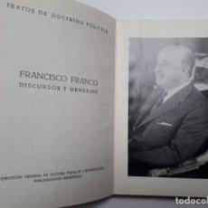 Libros de segunda mano: DISCURSOS Y MENSAJES DEL JEFE DEL ESTADO 1968-1970. FRANCO, FRANQUISMO. Lote 140956626