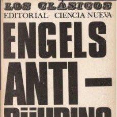 Libros de segunda mano: ANTI-DÜHRING - ENGELS, FEDERICO 1968 (MADRID). Lote 141173562