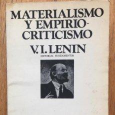 Libros de segunda mano - MATERIALISMO Y EMPIRIO-CRITICISMO V.I Lenin - 141886494
