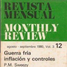 Libros de segunda mano: MONTHLY REVIEW (AGOSTO-SEPTIEMBRE 80) VVAA. Lote 142386450