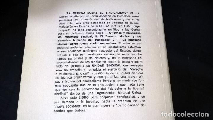 Libros de segunda mano: LA VERDAD SOBRE EL SINDICALISMO: DIALECTICA SINDICAL. ALBERTO PEDEMONTE OLIVER. 1969 PRIMERA EDICION - Foto 2 - 142667422
