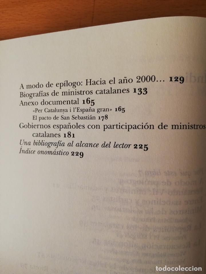 Libros de segunda mano: MINISTROS CATALANES EN MADRID (JOSEP MARIA AINAUD DE LASARTE) PLANETA - Foto 4 - 142957826