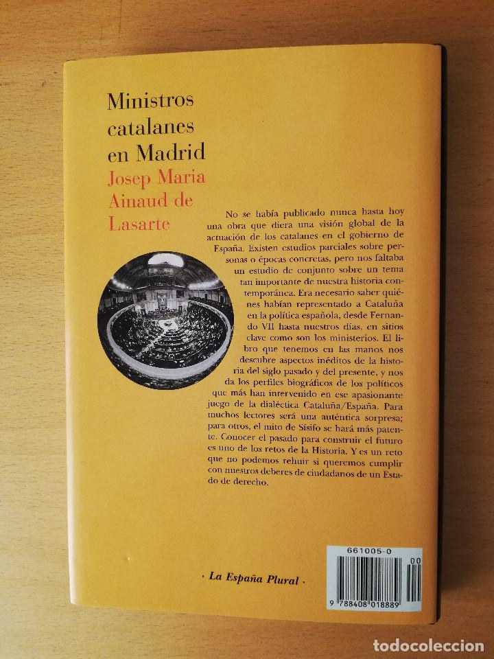 Libros de segunda mano: MINISTROS CATALANES EN MADRID (JOSEP MARIA AINAUD DE LASARTE) PLANETA - Foto 5 - 142957826