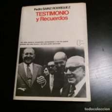 Libros de segunda mano: TESTIMONIO Y RECUERDOS. PEDRO SAINZ RODRÍGUEZ. 1978. Lote 143911154