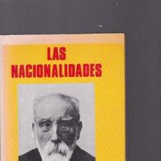 Libros de segunda mano: PI Y MARGALL - LAS NACIONALIDADES - PRODUCCIONES EDITORIALES 1990. Lote 144134330