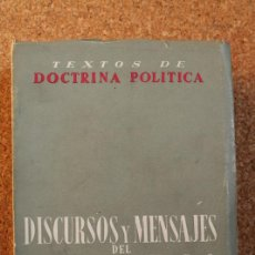 Libros de segunda mano: DISCURSOS Y MENSAJES DEL JEFE DEL ESTADO. 1955-1959. FRANCO (FRANCISCO). Lote 147204762