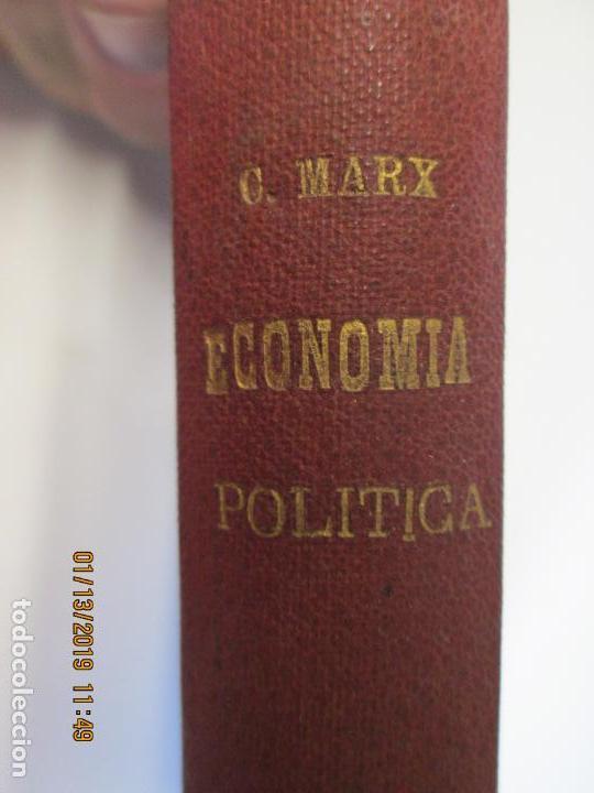 Libros de segunda mano: CRITICA DE LA ECONOMÍA POLÍTICA - CARLOS MARX- PRIMERA VERSIÓN ESPAÑOLA POR JACINTO BARRIEL. - Foto 2 - 147653774