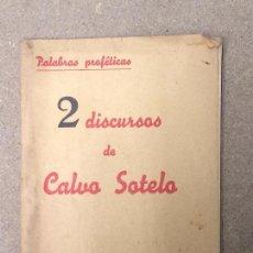 Libros de segunda mano: 2 DISCURSOS DE CALVO SOTELO. EDICIONES HISPANIA 1937.. Lote 148466434