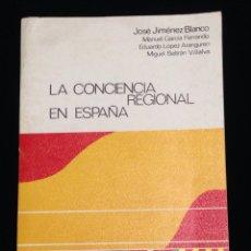 Libros de segunda mano - La conciencia regional de España,centro de investigaciones sociologicas,Madrid 1977. - 148548072