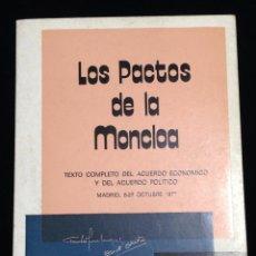 Libros de segunda mano - Los pactos de la moncloa,Madrid,8-27 Octubre 1977. - 148549026