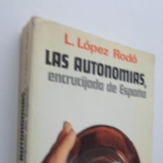 Libros de segunda mano: AUTOMÍAS, LAS. ENCRUCIJADA DE ESPAÑA - LÓPEZ RODÓ, LAUREANO. Lote 148712113