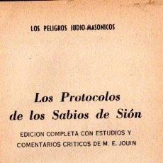 Libros de segunda mano: LOS PROTOCOLOS DE LOS SABIOS DE SIÓN (MÉXICO, 1967). Lote 148956386