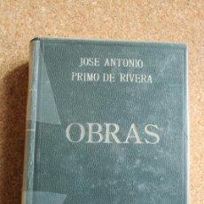 Libros de segunda mano: OBRAS DE PRIMO DE RIVERA, JOSÉ ANTONIO.EDICIÓN CRONOLÓGICA.RECOPILACIÓN DE AGUSTÍN DEL RÍO CISNEROS.. Lote 149488178