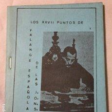 Libros de segunda mano - Los XXVII puntos de Falange Española de las J.O.N.S. - 150473802