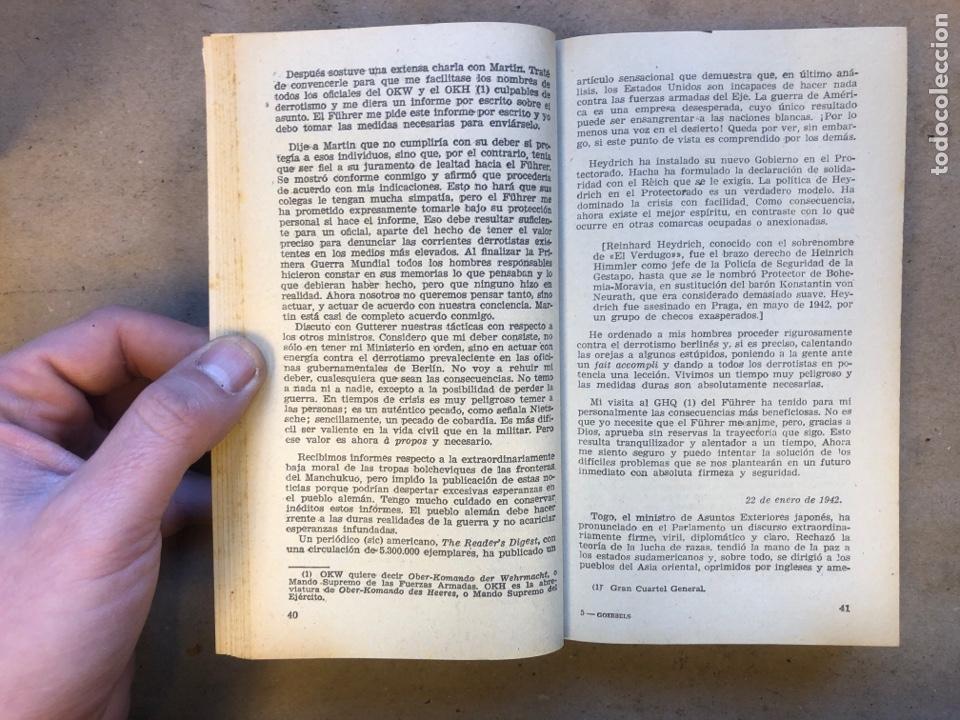 Libros de segunda mano: JOSEPH GOEBBELS, DIARIO. PLAZA & JANÉS EDITORES 1960. 543 PÁGINAS. - Foto 4 - 150526726