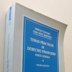 Libros de segunda mano: TEMAS PRÁCTICOS DE DERECHO FINANCIERO (PARTE GENERAL) - ESEVERRI MARTÍNEZ, ERNESTO. Lote 150774792