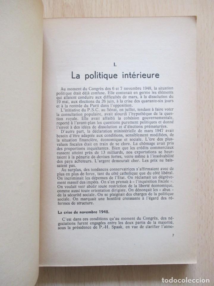 Libros de segunda mano: Rapports présentés au Congrès des 5 et 6 novembre 1949 (Parti Socialiste Belge) - Foto 7 - 150986150