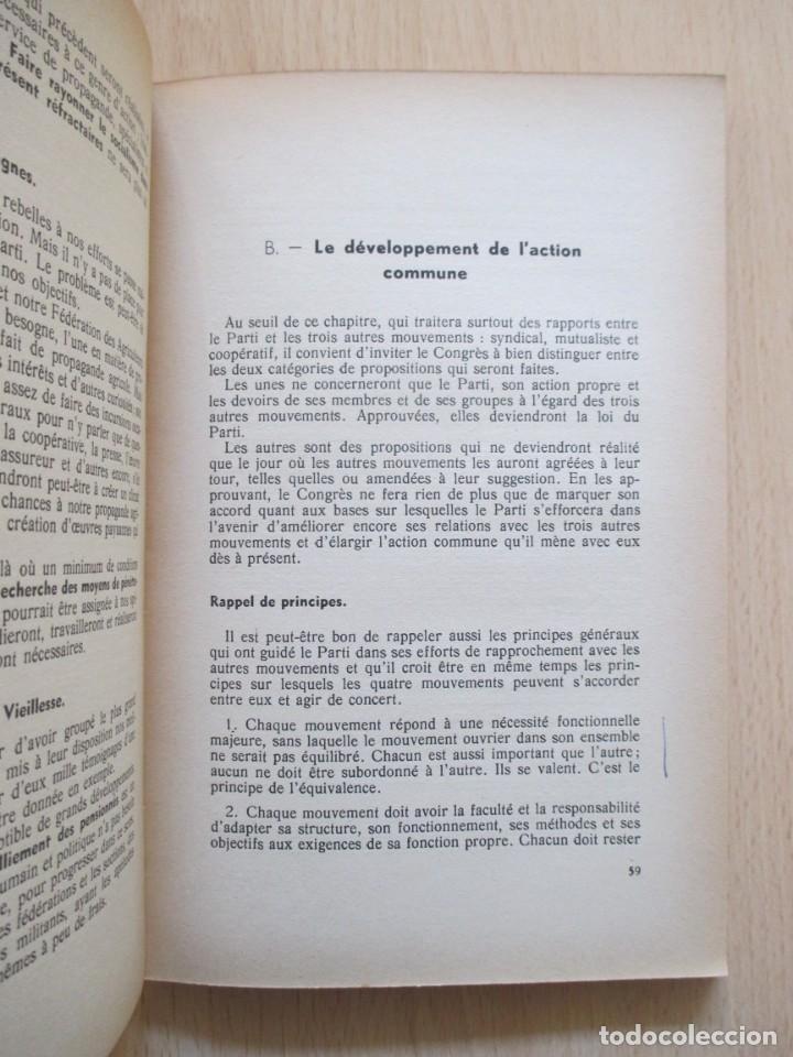 Libros de segunda mano: Rapports présentés au Congrès des 5 et 6 novembre 1949 (Parti Socialiste Belge) - Foto 8 - 150986150