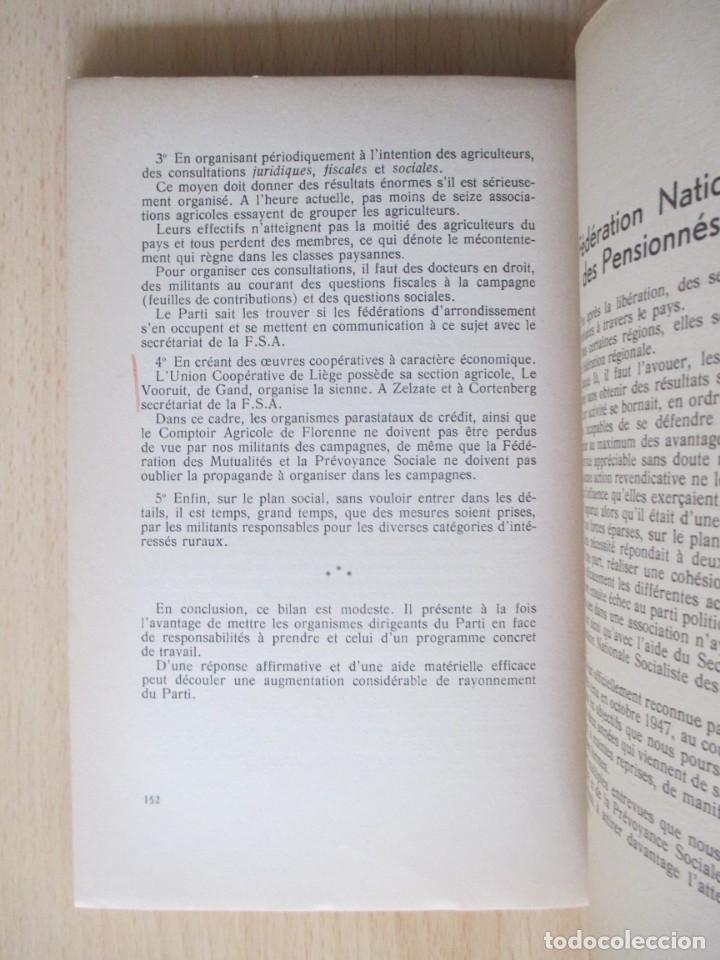 Libros de segunda mano: Rapports présentés au Congrès des 5 et 6 novembre 1949 (Parti Socialiste Belge) - Foto 18 - 150986150