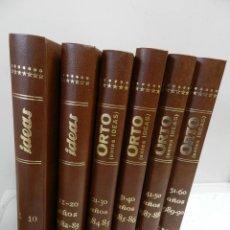 Libros de segunda mano: ORTO – REVISTA CULTURAL DE IDEAS ÁCRATAS 6 VOL. DEL N 1 AL 60 ANARQUIA ANARQUISMO ANARQUISTA. Lote 151126618