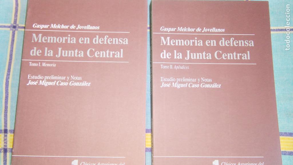 MEMORIA EN DEFENSA DE LA JUNTA CENTRAL-GASPAR MELCHOR DE JOVELLANOS (Libros de Segunda Mano - Pensamiento - Política)