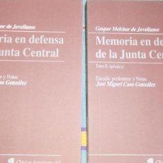 Libros de segunda mano: MEMORIA EN DEFENSA DE LA JUNTA CENTRAL-GASPAR MELCHOR DE JOVELLANOS. Lote 152398734