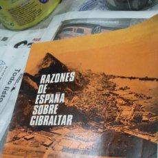 Libros de segunda mano: RAZONES DE ESPAÑA SOBRE GIBRALTAR.AGUILAR.1966. Lote 153182805