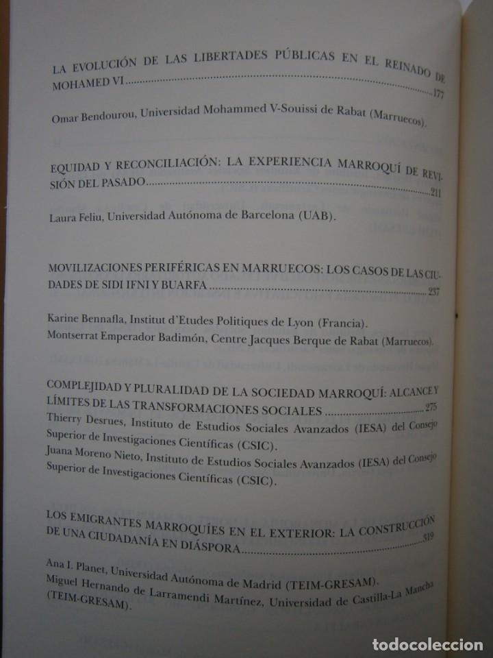 Libros de segunda mano: MOHAMED VI POLITICA Y CAMBIO SOCIAL EN MARRUECOS Thierry Desrues Miguel Hernando de Larramendi 2011 - Foto 11 - 154182530