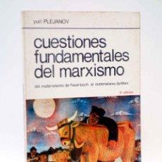 Libros de segunda mano: LA RED DE JONAS. CUESTIONES FUNDAMENTALES DEL MARXISMO. DE FEUERBACH A MARX (YURI PLEJANOV) OFRT. Lote 194592161