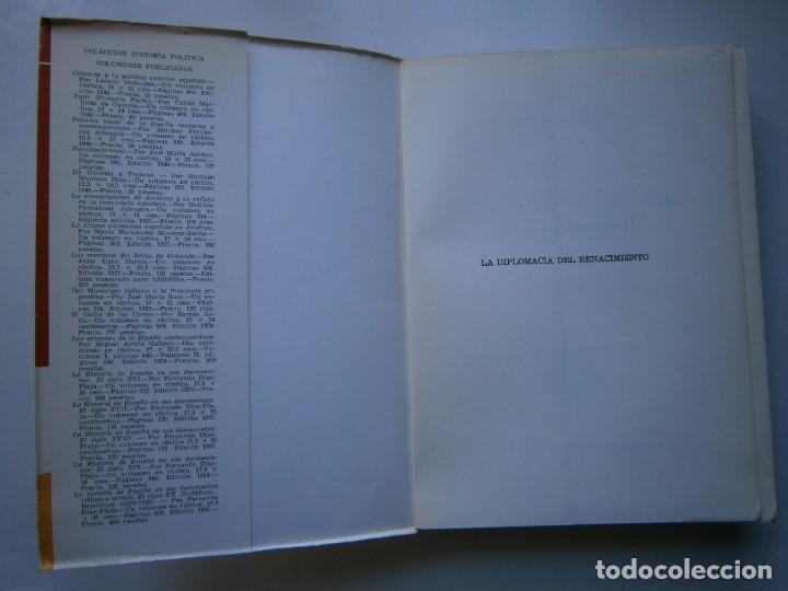 Libros de segunda mano: LA DIPLOMACIA DEL RENACIMIENTO Garrety Mattingly Estudios Politicos 1970 - Foto 8 - 154951342