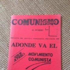 Livres d'occasion: ADONDE VA EL COMUNISMO. Lote 155296382