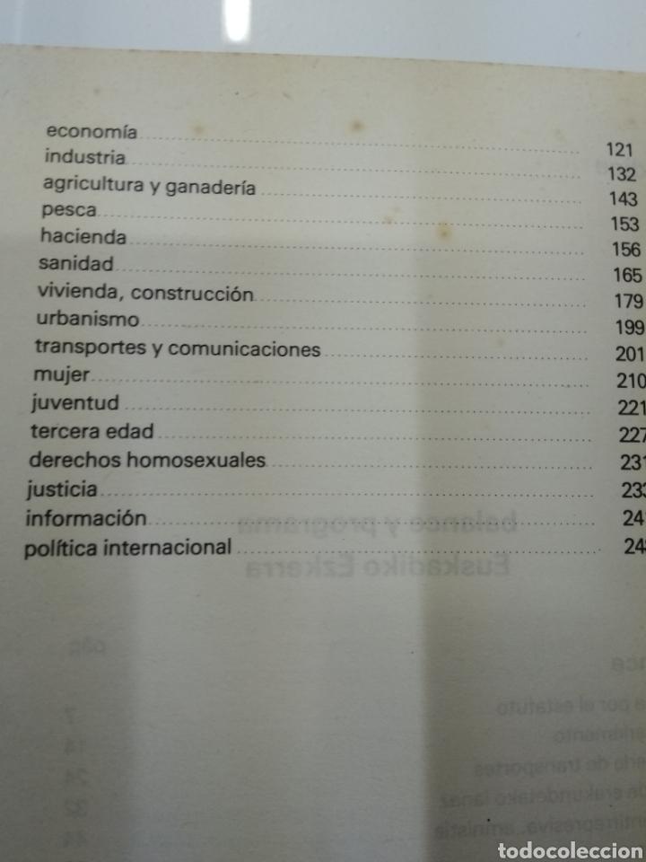 Libros de segunda mano: PROGRAMA DE LUCHA Y GOBIERNO EUSKADIKO EZKERRA Escision ETA Berri Mario Onaindia Partido Socialista - Foto 6 - 156270273